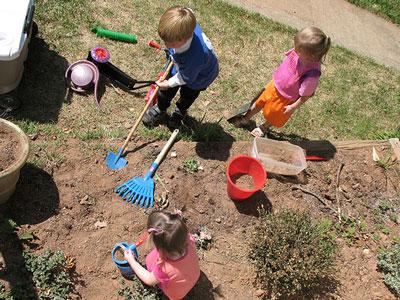 رابطه ی خاک بازی و سلامت کودک