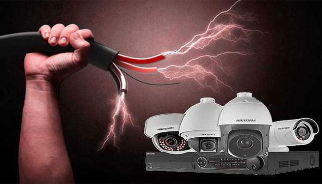 محافظت از دوربین مداربسته در برابر نوسان برق